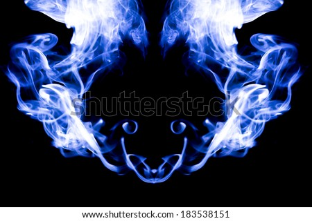 abstract smoke movement colourful