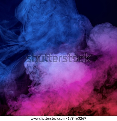 Abstract smoke on a dark background - stock photo