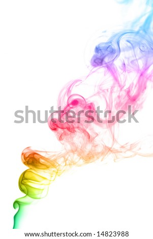 Abstract smoke on a white background - stock photo