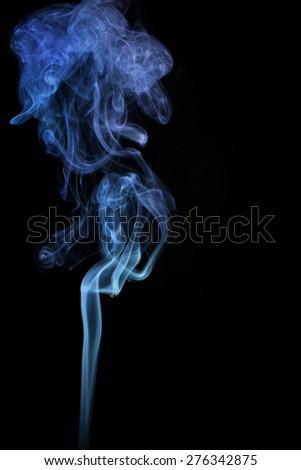 abstract smoke on black  - stock photo