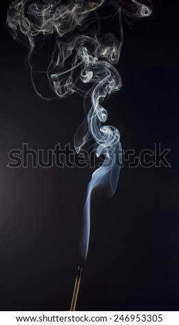 Abstract smoke on black background - stock photo