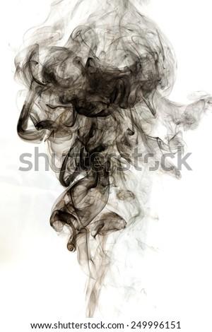 Abstract smoke on white background. - stock photo