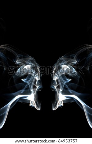 abstract smoke photo - stock photo