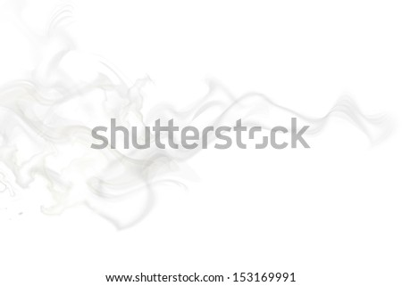abstract smoke shape isolated on white background