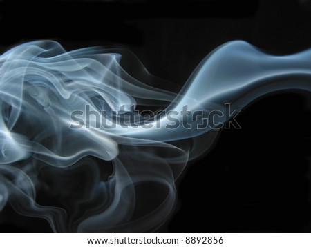 abstract smoke stream - stock photo