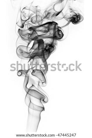 Abstract smoke wave - stock photo