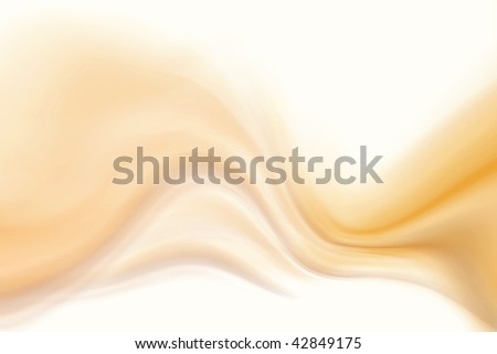 Abstract smooth brown tone flowing on white background. - stock photo
