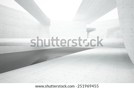 Abstract smooth interior concrete - stock photo