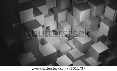 abstract smooth white cubes as background