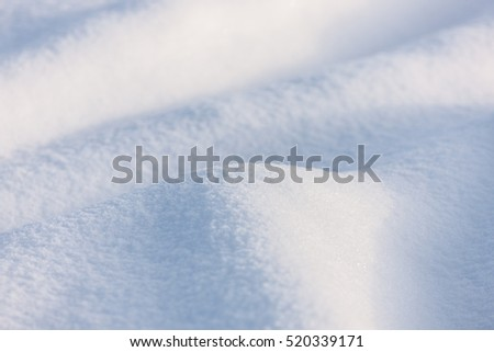 abstract snow background close up in winter