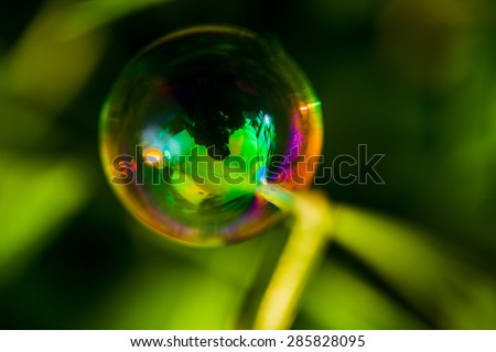 Abstract soap bubble background. - stock photo