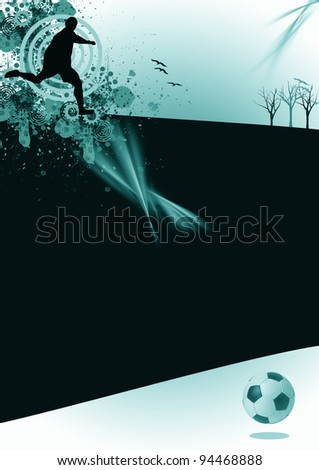 Abstract soccer background. (magazine, web, leaflet, poster) - stock photo