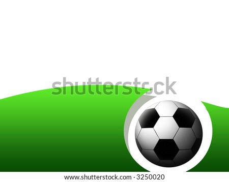 abstract soccer frame with soccer ball - stock photo
