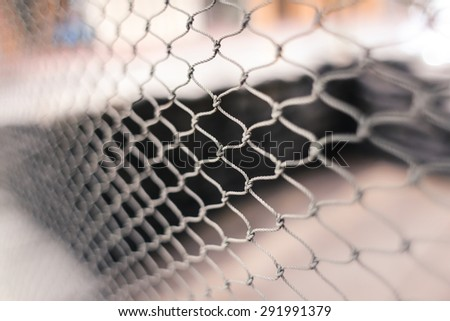 abstract soccer goal net pattern - stock photo