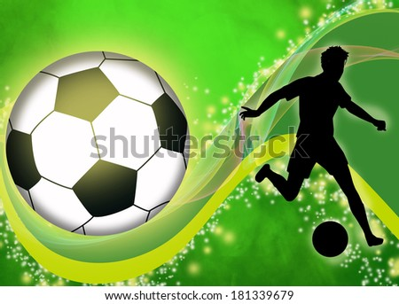 Abstract soccer or football background with empty space