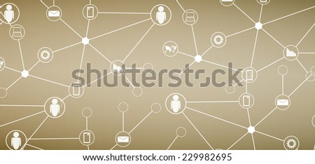 abstract social network and technology background     - stock photo