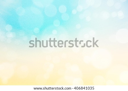 Abstract Soft Blue Background with bokeh filled, sky