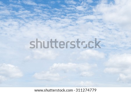 abstract soft blue sky and white cloud