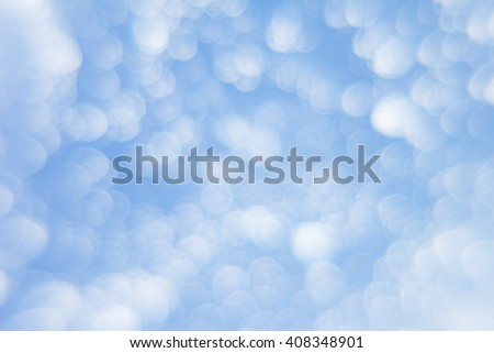 Abstract soft light  blue background  with blurred circles. Small clouds on a sunny day. Background. Texture.