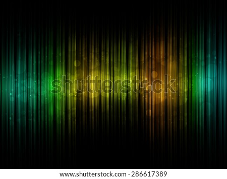 Abstract sound colorful equalizer with bokeh background