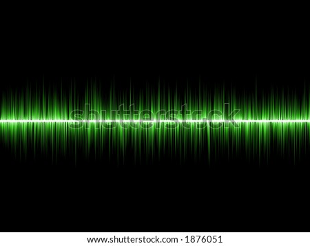 Abstract sound waves. - stock photo