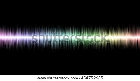 Abstract soundwave with Black Background illustration