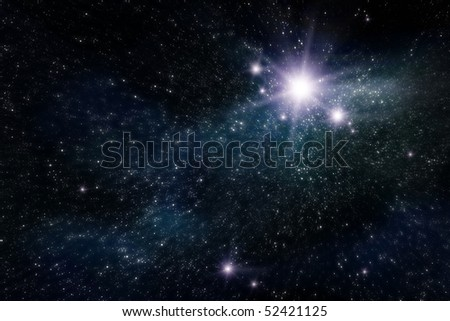 abstract space and star background - stock photo