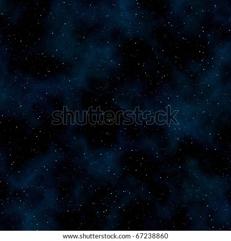 Abstract space background: stars and nebulas. Square - stock photo