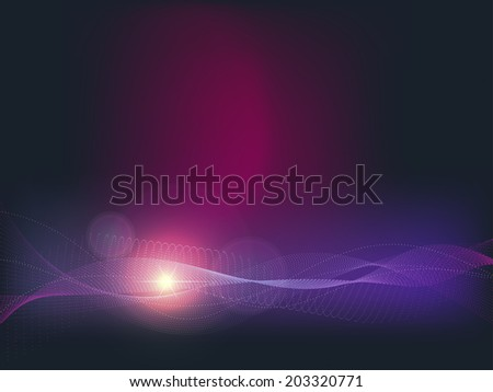 Abstract space background with star and nebula. - stock photo