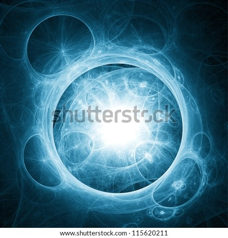 Abstract space illustration. Soap bubbles. - stock photo