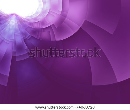 Abstract space violet multiple shapes background design - stock photo