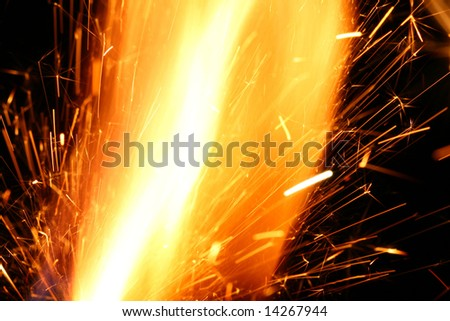 Photo White Hot Sparks Grinding Steel Stock Photo 21460993 ...