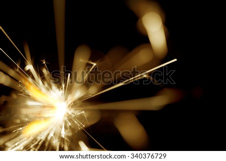 Abstract Sparkler Background - stock photo
