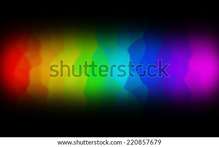 Abstract spectrum dark background with colored pyramides