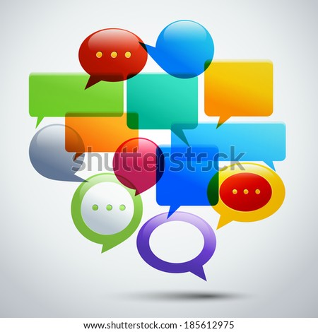 Abstract speech bubbles for infographics and presentation concept  illustration