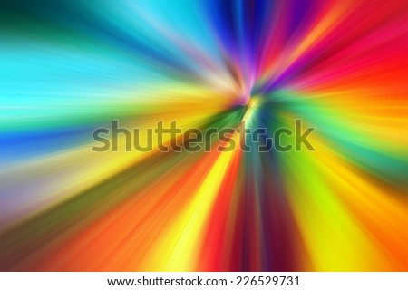 Abstract speed lines background. Radial motion blur / zooming effect. - stock photo