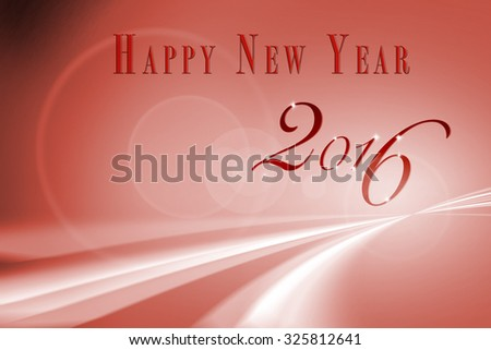 Abstract Speed motion in Red highway and creative new year 2016 design. - stock photo