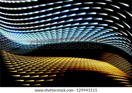 Abstract speed technology background, fiber optic abstract - stock photo