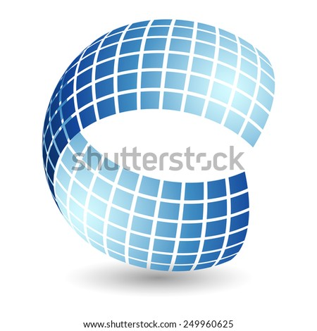 Abstract sphere - stock photo