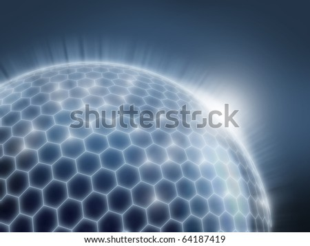 abstract sphere as a global network 3d illustration - stock photo