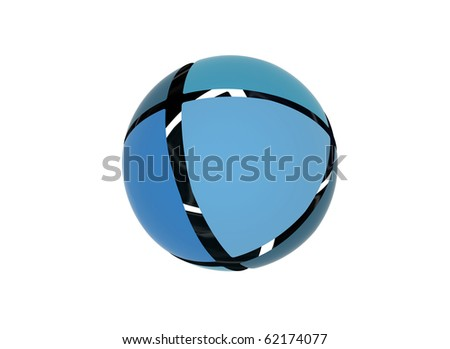Abstract sphere blue shades - stock photo