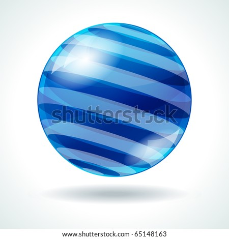 Abstract sphere with stripes - stock photo