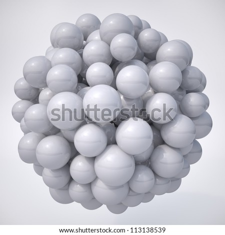 Abstract Spheres full view reflective ball shape