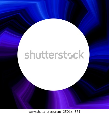 Abstract spiral background design with a white circle.