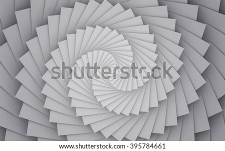 Abstract Spiral Background. Sacred Geometry. 3D Illustration.