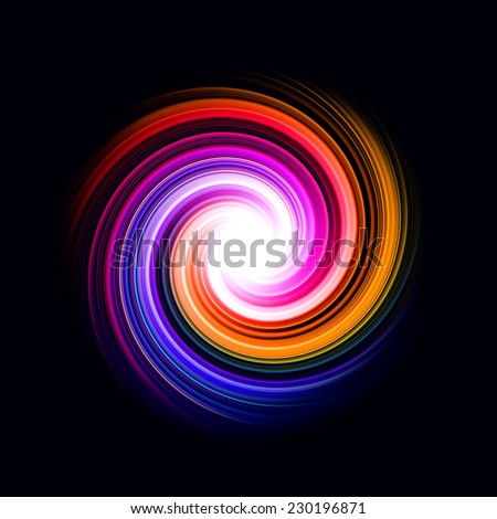 abstract spiral background with bright center for brochure, book cover or web design - stock photo