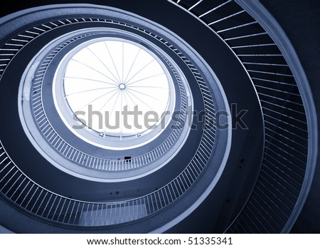 Abstract spiral staircase - stock photo