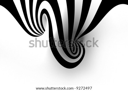 Abstract spiral with empty space - stock photo