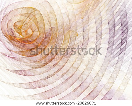 Abstract spirals on white background:rendered fractal. - stock photo