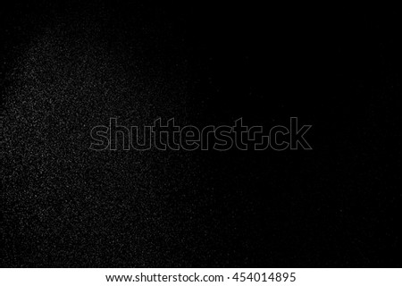abstract splashes of water on black background